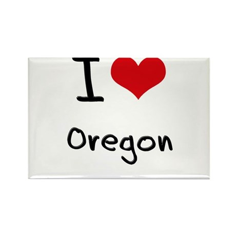 I Love Oregon Rectangle Magnet