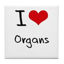I Love Organs Tile Coaster