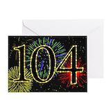 104 birthday Greeting Cards