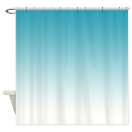 Aqua White Shower Curtain By Be Inspired By Life