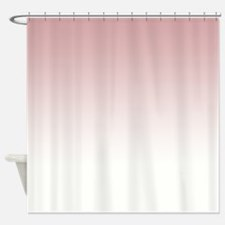 Pink White Shower Curtain