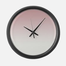 Pink White Large Wall Clock