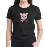 I Love Pink Heart Pigs Cute Women's Dark T-Shirt