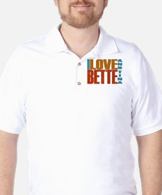 I Love Bette and Tina Golf Shirt
