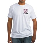 I Love Pink Heart Pigs Cute Fitted T-Shirt