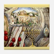 Chanukah Tile Coaster
