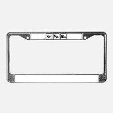 Newspaper Reading License Plate Frame