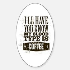 Blood Type Coffee Decal