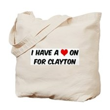 Heart on for Clayton Tote Bag