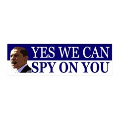 Obama Yes We Can Spy On You Wall Decal