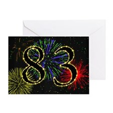 83rd birthday with fireworks Greeting Card