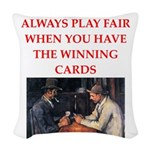card game Woven Throw Pillow