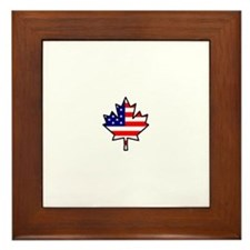 American-Canadian Half-Breed Framed Tile