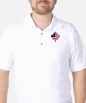 American-Canadian Half-Breed Golf Shirt