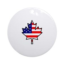 American-Canadian Half-Breed Ornament (Round)