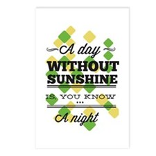 Day Without Sunshine Postcards (Package of 8)