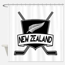 New Zealand Ice Hockey Flag Shower Curtain