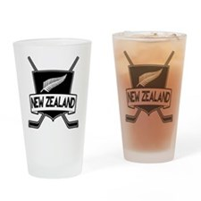 New Zealand Ice Hockey Flag Drinking Glass
