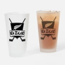New Zealand Ice Hockey Flag Drinking Glass