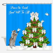 Christmas, Peace Dove Shower Curtain