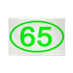 Number 64 Oval Rectangle Magnet