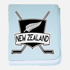 New Zealand Ice Hockey Flag baby blanket