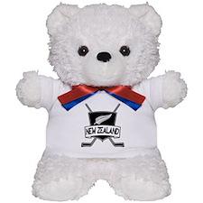 New Zealand Ice Hockey Flag Teddy Bear