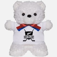 New Zealand Ice Hockey Flag Teddy Bear