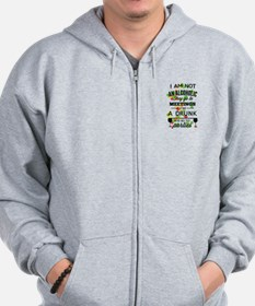 Drunks Go To Parties Zip Hoodie