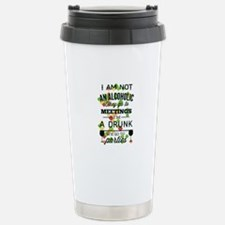 Drunks Go To Parties Stainless Steel Travel Mug