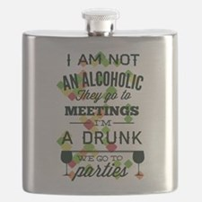 Drunks Go To Parties Flask
