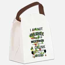 Drunks Go To Parties Canvas Lunch Bag