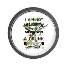 Drunks Go To Parties Wall Clock