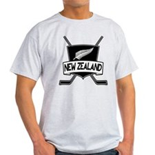 New Zealand Ice Hockey Flag T-Shirt