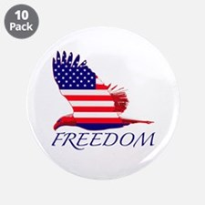"Freedom eagle 3.5"" Button (10 pack)"