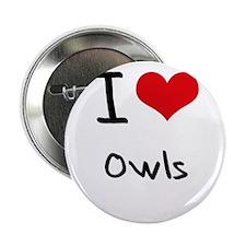 "I Love Owls 2.25"" Button"