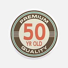 """50th Birthday Vintage 3.5"""" Button"""