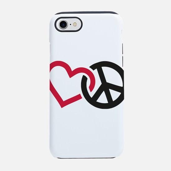 Cute Retro peace iPhone 7 Tough Case