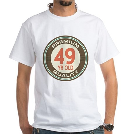 49th Birthday Vintage White T-Shirt