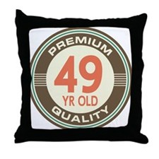 49th Birthday Vintage Throw Pillow