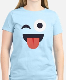 Winky Tongue Emoji Face T-Shirt
