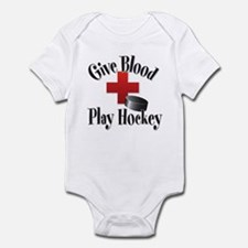 Give Blood Play Hockey Infant Creeper