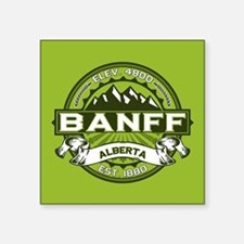 "Banff Green Square Sticker 3"" x 3"""