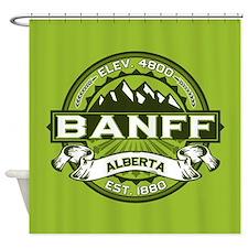 Banff Green Shower Curtain