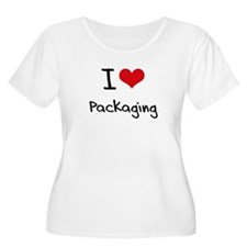 I Love Packaging Plus Size T-Shirt