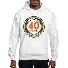 40th Birthday Vintage Hoodie