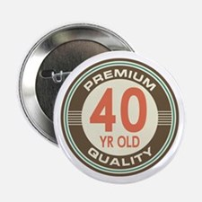 "40th Birthday Vintage 2.25"" Button"