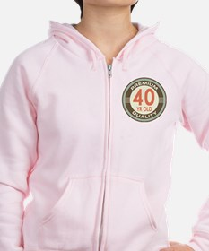40th Birthday Vintage Zip Hoodie