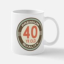 40th Birthday Vintage Mug