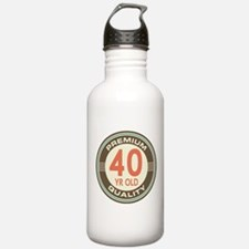 40th Birthday Vintage Water Bottle